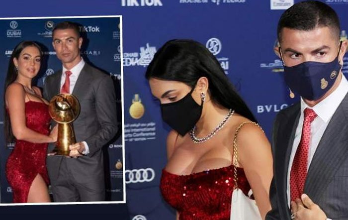 Cazada: Georgina, con un diminuto tanga en un acto de Cristiano Ronaldo