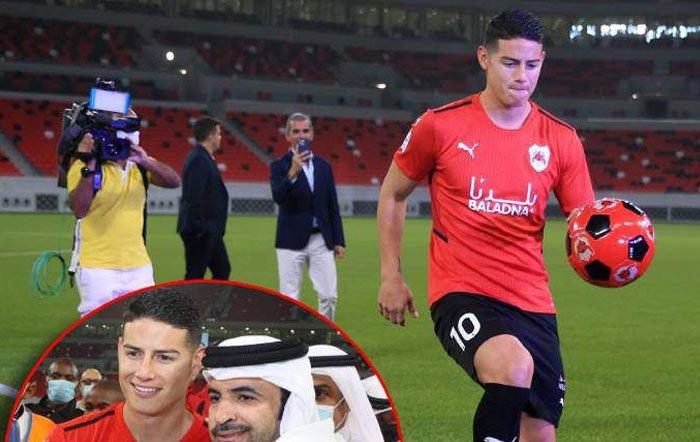 La nueva vida del exmadridista James en Qatar: restricción de alcohol, mascotas fieras, leche de camello...